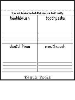 Happy Teeth Dental Hygiene Flip Book