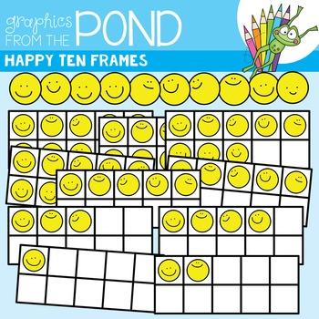 Happy Ten Frames Clipart