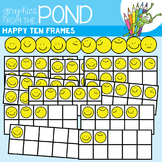 Happy Ten Frames Clipart