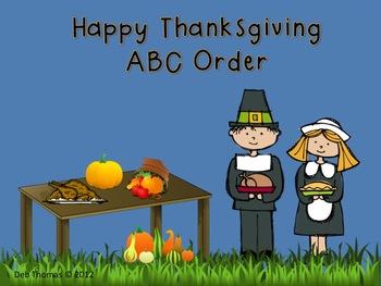 Happy Thanksgiving ABC Order
