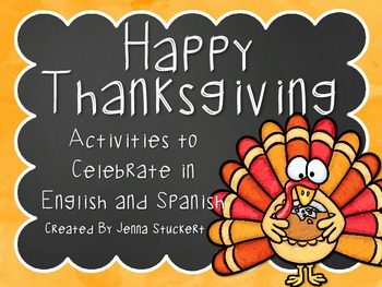 Happy Thanksgiving Activities in English and Spanish