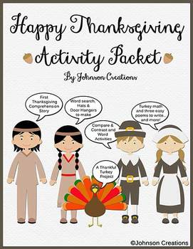 Happy Thanksgiving Activity Packet