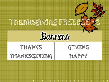 Happy Thanksgiving Banner (Freebie)