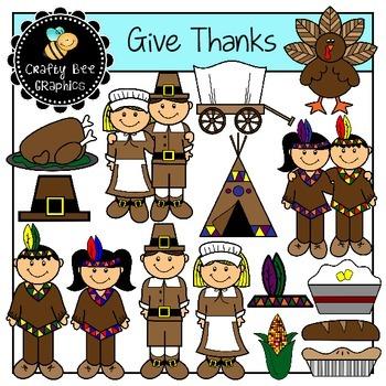 Give Thanks Clip Art Set