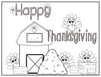 Happy Thanksgiving Color Sheet