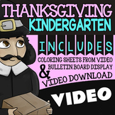 Watch & Color Thanksgiving Activities For Kindergarten ★ Thanksgiving Activities