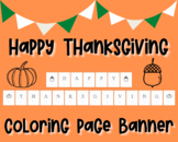 Happy Thanksgiving Coloring Sheet Banner