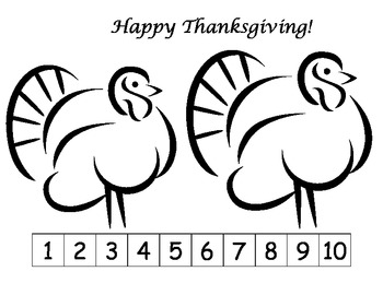 Happy Thanksgiving: Cut and Glue the picture in order one through ten