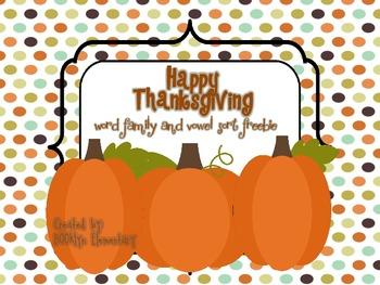 Happy Thanksgiving Freebie!
