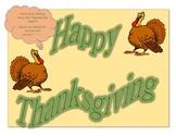 Happy Thanksgiving Mini Poster