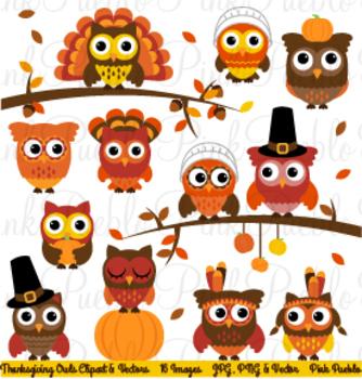 Happy Thanksgiving Owl Clipart Clip Art