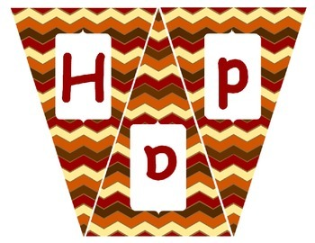 Happy Thanksgiving Pennant Banner