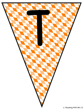 Happy Thanksgiving Pennant Banner Bunting for Bulletin Boards