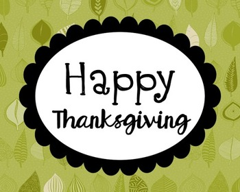 Happy Thanksgiving Poster, Class Decor, Holiday Sign, Bulletin Board