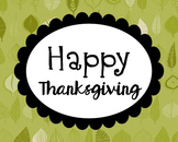 Happy Thanksgiving Poster, Class Decor, Holiday Sign, Bull