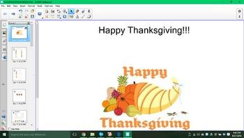 Happy Thanksgiving SMARTboard activity!!!