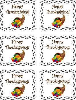 Happy Thanksgiving Treat Tags {FREEBIE}