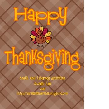 Happy Thanksgiving Unit