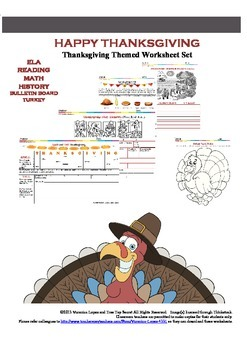 Happy Thanksgiving Worksheet Set