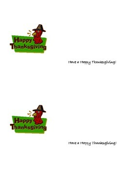Happy Thanksgiving card for students