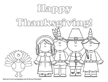Happy Thanksgiving! coloring page