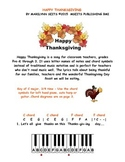 Happy Thanksgiving - easy piano song w/ letter names instead of notes on staff