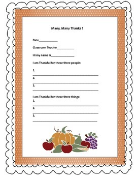 4 pages- Thanksgiving activity and poster in English and Spanish