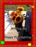 4 pages Happy Thanksgiving quick activity and poster in En