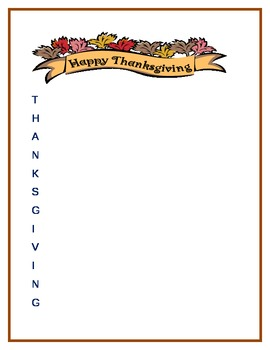 Happy Thanksgiving...An Acrostic Poem