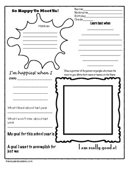 Happy To Meet Ya Icebreaker Activity Sheet