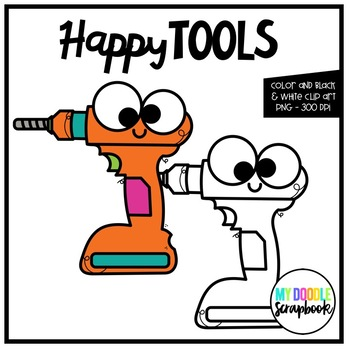 Happy Tools (Clip Art for Personal & Commercial Use)