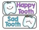 Happy Tooth, Sad Tooth - A Game, Cut and Paste & Experiment for Little Learners!