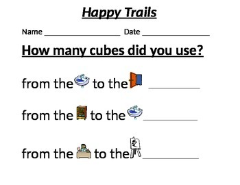 Happy Trails-counting with cubes