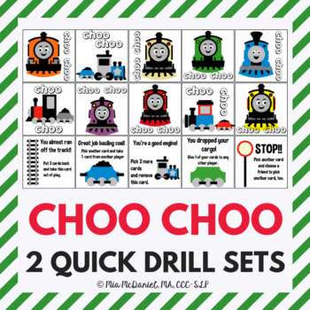 Happy Trains Quick Drill {for articulation or fluency therapy & RTI}