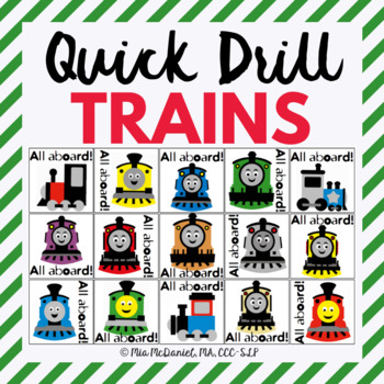 Happy Trains Quick Drill {for articulation or fluency ther