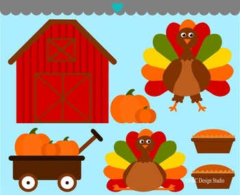 Thanksgiving turkey pie clipart commercial use