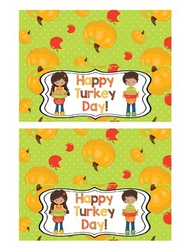 Happy Turkey Day Treat Bag Toppers