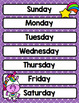 Happy Unicorns Classroom Calendar Decor