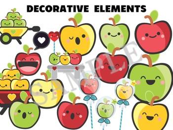 Happy Up Banner : Apples, Johnny Appleseed, Bulletin & Class Decor Editable