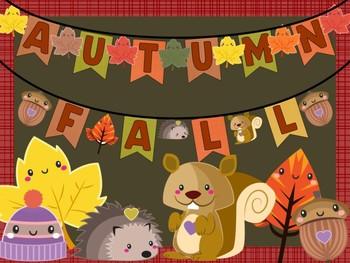 Happy Up Class Decor & Banner Kit : Fall Leaves & Friends, Autumn, Decor Bundle