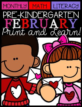 February Print and Learn (Valentine Day)