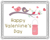 Happy Valentine's Day Poster, Class Decor, Holiday Sign, B