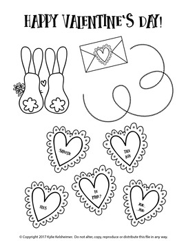 Happy Valentine's Day Clip Art Bundle & BONUS Coloring Sheet!