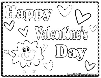 Happy Valentine's Day Color Sheet Freebie
