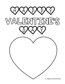 Happy Valentine's Day Coloring Sheet (freebie!)