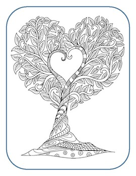 Happy Valentine's Day Cross Word and Coloring Page