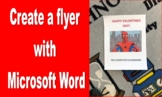 Happy Valentine's Day Flyer in Microsoft Word Assignment