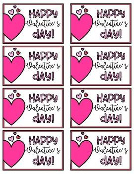 Happy Valentine's Day Gift Tag