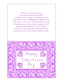 Happy Valentine's Day Lilac Monotone Fabric Font Heart Dia