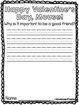 Happy Valentine's Day, Mouse! {Craftivity}